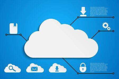 cloud computing vector background Vector