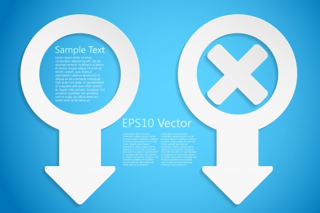 creative icons on blue,  background Vector