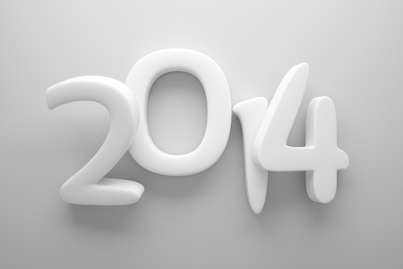 a 3d render of 2014 clay digits photo