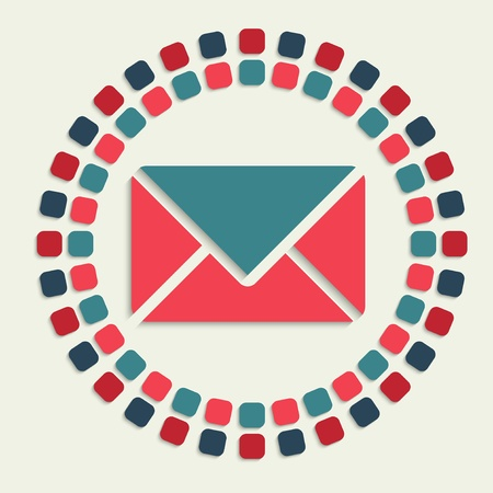 sobres de carta: creativa icono de mosaico vector