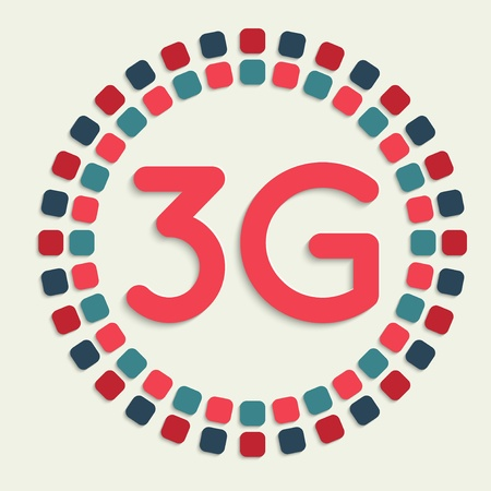3g: creative vector mosaic icon