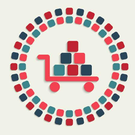 economize: creative vector mosaic icon