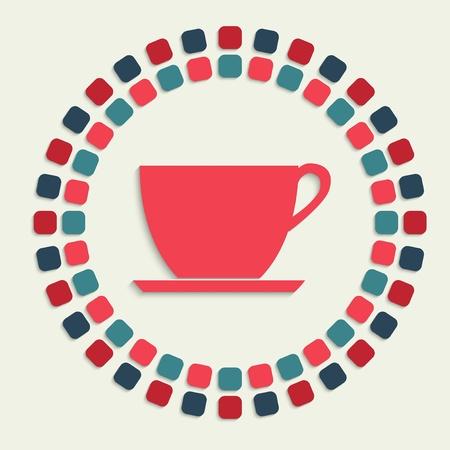 internet cafe: creative vector mosaic icon