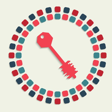 passkey: creative vector mosaic icon