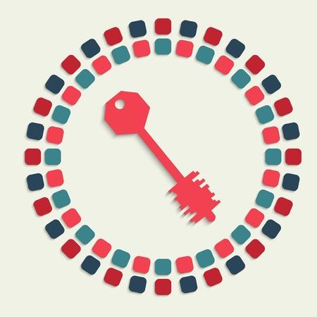 passkey: creative vector mosaic icon