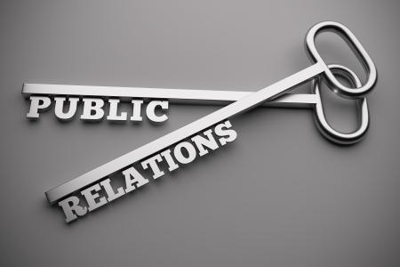 relaciones publicas: Concepto de relaciones públicas con las llaves, render 3d