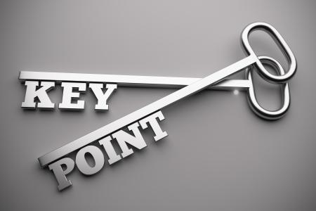 key point concept, 3d render 版權商用圖片 - 21706374