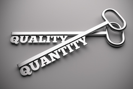 quantity: Quality Or Quantity concept with keys