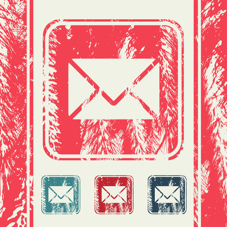 inbox: a creative icon in grunge style Illustration