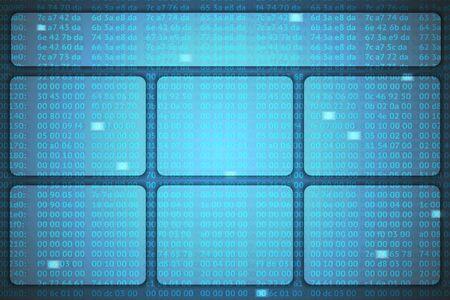 hex: hex codes vector template
