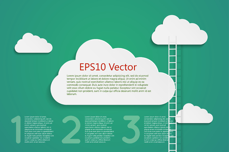 corporate ladder: a comptition concept with clods and ladder, eps10 vector Illustration