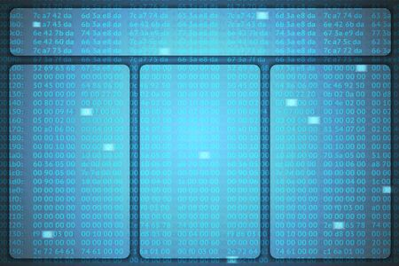 hexadecimal: hex codes vector template