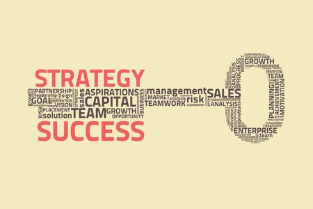 sales strategy: key with business words