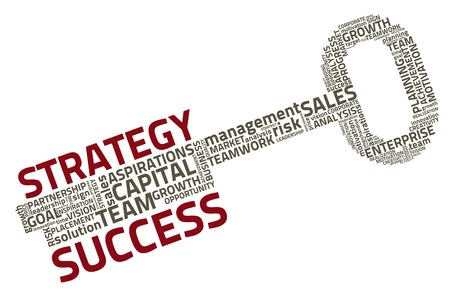 leadership key: key with business words