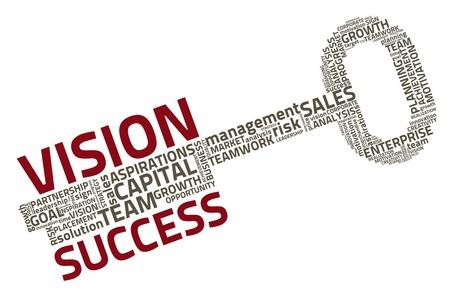 llaves: con las palabras clave de negocio Vectores