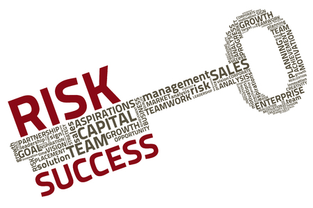 risk analysis: key with business words