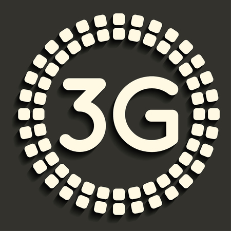 3g: 3G icon in dark style