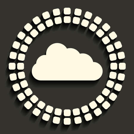 wheather forecast: cloud icon in dark style
