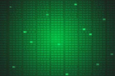 hex: hex codes vector background