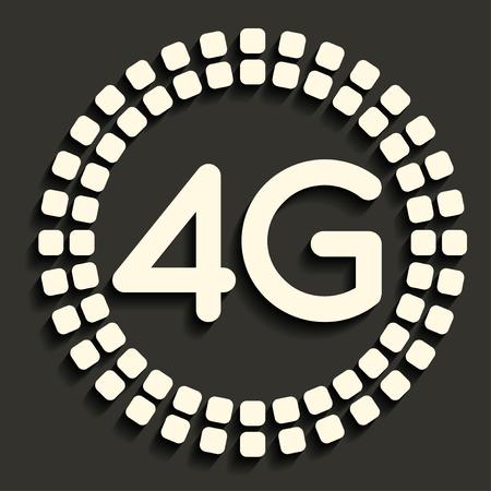 4G icon in dark style