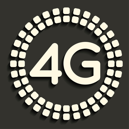 4G icon in dark style Stock Vector - 24213127