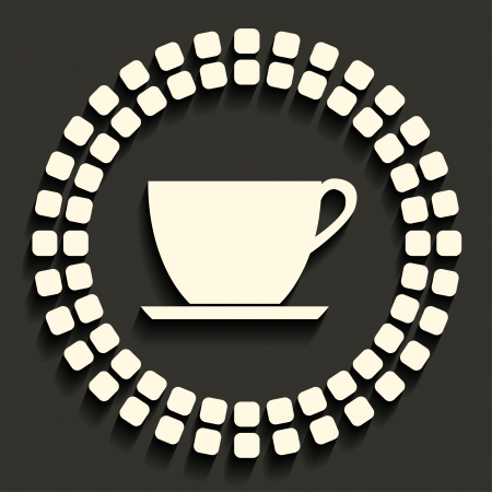 coffeecup: tea cup  icon in dark style