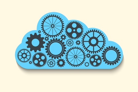 cloud with gears Vector
