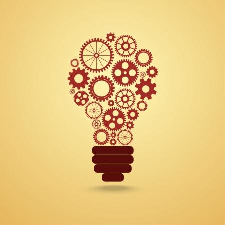 gloeilamp met versnellingen en KPV werken samen