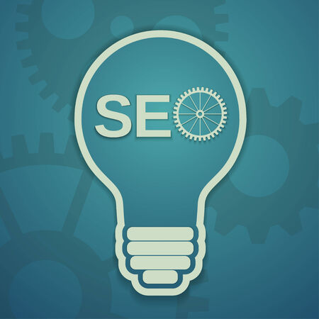 electrical wires: a seo concept with bulb and gears