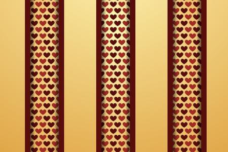 Creative heart pattern. Valentines day background Vector
