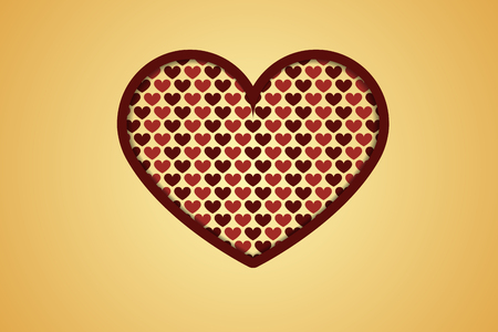creative heart with hearts inside Vector