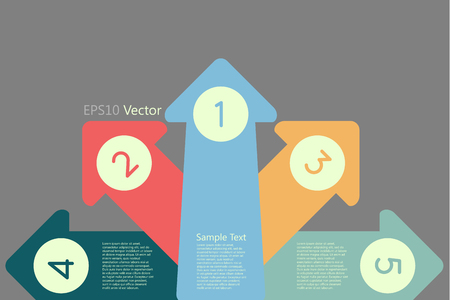 Arrow with numbers,  business steps concept Vector