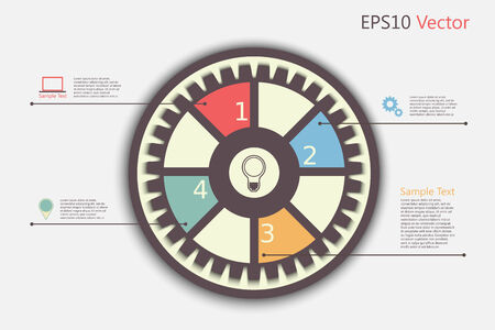 Infographic design template with gear Vector