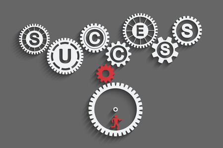 gears concept: Many work for business success. Infographic gears concept