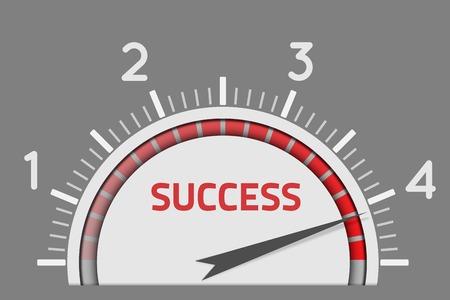 Success speedometer business concept Vector