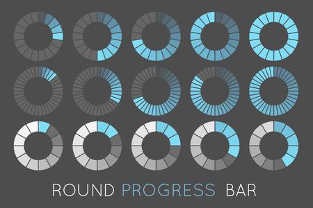 loading status icons, round progress bar Illustration