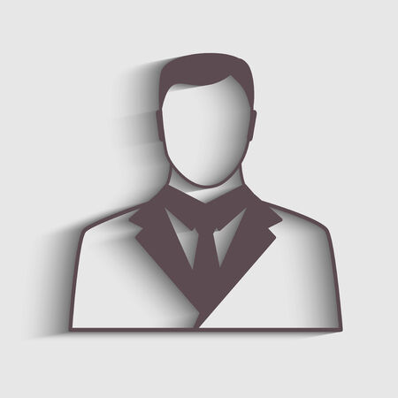 symbol people: Businessman icon with shaddow