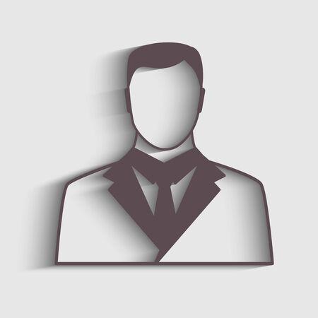 shaddow: Businessman icon with shaddow