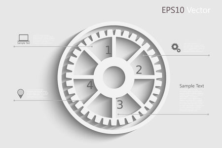 mechaninc: Infographic design template with gear