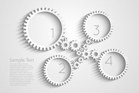 Gears vector background for your design