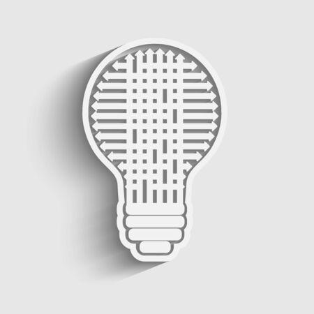 electrocute: light bulb idea with arrows Illustration