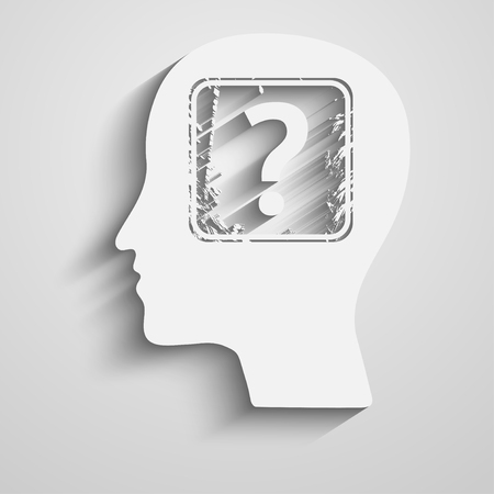 Human head with question mark  Vector