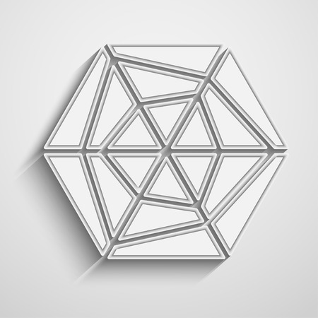 six Triangles background,  vector illustration with space for your text Vector