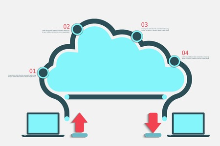 Cloud computing infographic illustration  Vector