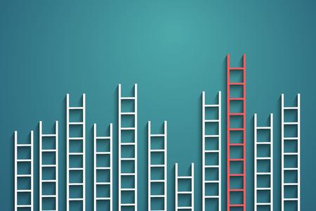 競争の概念の壁にはしご  イラスト・ベクター素材