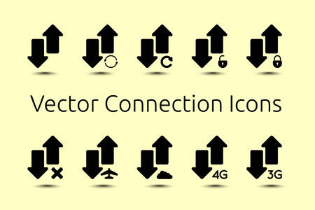 shaddow: a vector connection icons set for your design