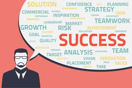 analisys: business strategy plan concept idea  vector   Speech bubble with business words  growth, success, team, sales, risk, analisys, innovation and others