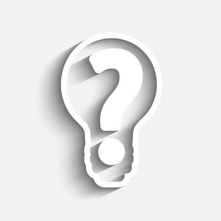question mark in bulb stock vector