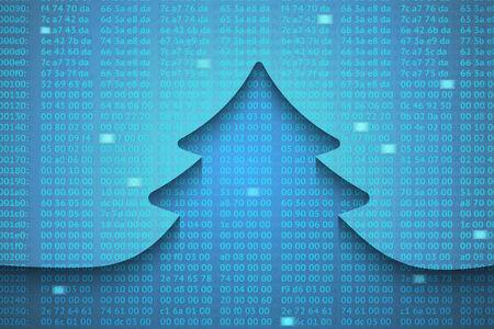 hexadecimal: Creative paper Christmas tree background. Vector Illustration. Illustration