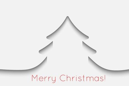 Creative paper Christmas tree background. Vector Illustration. Illustration